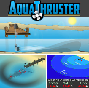AquaThruster Lake Weed Muck blower & mover solution